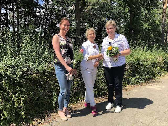 v.l.n.r.: Frau Jansen, Frau Niewiera, Frau Drees