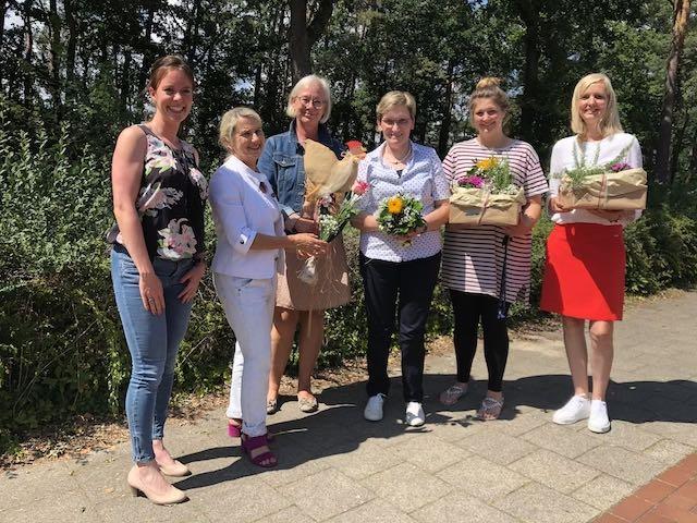 v.l.n.r.: Frau Jansen, Frau Niewiera, Frau Pölking-Oeßelmann, Frau Drees, Frau Thomas, Frau Wiemker